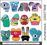set of twelve monsters | Shutterstock .eps vector #103377848