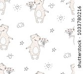 cute seamless pattern with... | Shutterstock .eps vector #1033780216