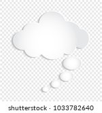 white thought bubble cloud on... | Shutterstock .eps vector #1033782640