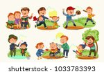 set happy fathers day greeting...   Shutterstock .eps vector #1033783393