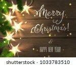 holiday design   merry... | Shutterstock . vector #1033783510