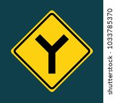 warning two way traffic sign...   Shutterstock .eps vector #1033785370