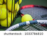 close up view of two tennis... | Shutterstock . vector #1033786810