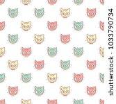 vector seamless pattern of... | Shutterstock .eps vector #1033790734