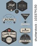 Stock vector vintage label set 103379150