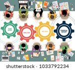 flat design illustration... | Shutterstock .eps vector #1033792234