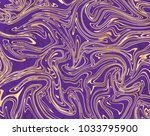 vector violet and gold marble... | Shutterstock .eps vector #1033795900