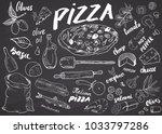 menu hand drawn sketch set....   Shutterstock .eps vector #1033797286