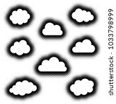 various creative clouds icons... | Shutterstock .eps vector #1033798999