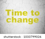 timeline concept  yellow time... | Shutterstock . vector #1033799026