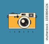 retro reflex photo camera.... | Shutterstock .eps vector #1033804126