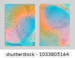 abstract cover template with... | Shutterstock .eps vector #1033805164