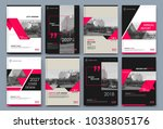 abstract white a4 brochure... | Shutterstock .eps vector #1033805176