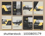 abstract white a4 brochure... | Shutterstock .eps vector #1033805179