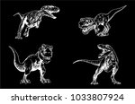 graphical set of sketchy... | Shutterstock .eps vector #1033807924