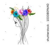 happy women's day  vector... | Shutterstock .eps vector #1033809640