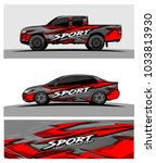 abstract racing graphic kit... | Shutterstock .eps vector #1033813930