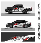 abstract racing graphic kit... | Shutterstock .eps vector #1033813996