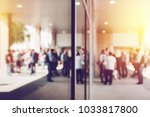 abstract blur business and... | Shutterstock . vector #1033817800