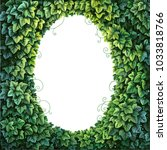 oval frame for text decoration... | Shutterstock .eps vector #1033818766