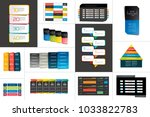 big set of tables  schedules ... | Shutterstock .eps vector #1033822783