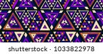 indian geometric folklore... | Shutterstock .eps vector #1033822978
