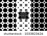seamless pattern set  abstract... | Shutterstock .eps vector #1033823626