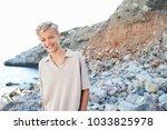 portrait of beautiful teenager... | Shutterstock . vector #1033825978