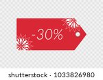 30 percent off shopping tag... | Shutterstock .eps vector #1033826980