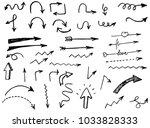 doodle hand drawn vector arrows | Shutterstock .eps vector #1033828333