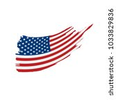 usa flag isolated | Shutterstock .eps vector #1033829836