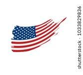 usa flag isolated | Shutterstock .eps vector #1033829836