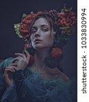 miracle female art portrait... | Shutterstock . vector #1033830994