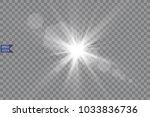 vector transparent sunlight... | Shutterstock .eps vector #1033836736