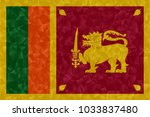 sri lanka flag polygonal design ... | Shutterstock . vector #1033837480