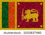 sri lanka flag polygonal design ...   Shutterstock . vector #1033837480