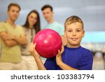 smiling boy dressed in blue t... | Shutterstock . vector #103383794