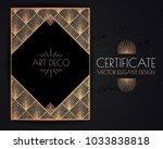 elegant vintage card  flyer ... | Shutterstock .eps vector #1033838818