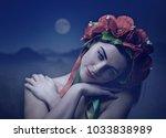 beautiful young woman. female... | Shutterstock . vector #1033838989