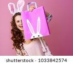 festive bunny and eggs season....   Shutterstock . vector #1033842574
