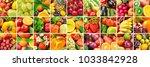 lot images fruits  vegetables...   Shutterstock . vector #1033842928