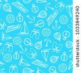 vector travel seamless pattern... | Shutterstock .eps vector #1033849240