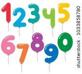 vector set of number shaped... | Shutterstock .eps vector #1033858780