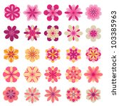 abstract flower icons | Shutterstock .eps vector #103385963
