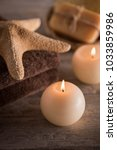 composition of spa setting on a ...   Shutterstock . vector #1033859986