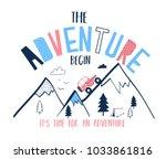 trip car vector illustration... | Shutterstock .eps vector #1033861816