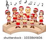 Choir Girls And Boys Singing A...