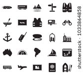solid black vector icon set  ... | Shutterstock .eps vector #1033864858