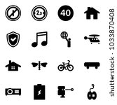 solid vector icon set   no... | Shutterstock .eps vector #1033870408