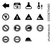 solid vector icon set   left... | Shutterstock .eps vector #1033870480